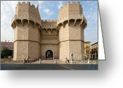 Gates Greeting Cards - Torres de Serranos Greeting Card by Fabrizio Troiani