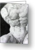 Valeriy Mavlo Drawings Greeting Cards - Torso 1a Greeting Card by Valeriy Mavlo