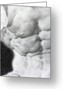 Valeriy Mavlo Drawings Greeting Cards - Torso 1b Greeting Card by Valeriy Mavlo