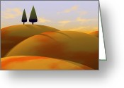 Hills Greeting Cards - Toscana 1 Greeting Card by Cynthia Decker