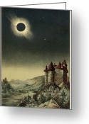 1842 Greeting Cards - Total Solar Eclipse Of 1842 Greeting Card by Detlev Van Ravenswaay