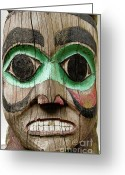 Custom Culture Greeting Cards - Totem Greeting Card by John Greim