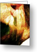 Brushes Digital Art Greeting Cards - Touching My Lips Greeting Card by Andrea Barbieri