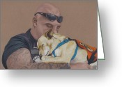 Biker Greeting Cards - Tough Love Greeting Card by Stacey Jasmin