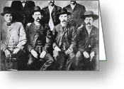 Old West Greeting Cards - TOUGH MEN of the OLD WEST Greeting Card by Daniel Hagerman