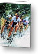 Sports Artist Greeting Cards - Tour de Force Greeting Card by Hanne Lore Koehler
