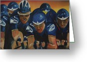 Gregory Allen Page Greeting Cards - Tour de France Team Time Trial Greeting Card by Gregory Allen Page