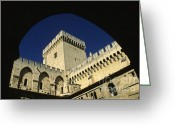 Heritage Greeting Cards - Tour du Palais des Papes en Avignon. Greeting Card by Bernard Jaubert