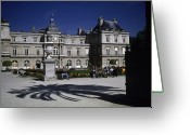 Royalty Greeting Cards - Tourists Enjoy The Palais De Luxembourg Greeting Card by Taylor S. Kennedy