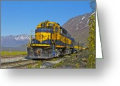 Train Track Greeting Cards - Tourists Greeting Card by Rick  Monyahan