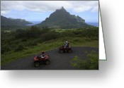 Tourists And Tourism Greeting Cards - Tourists Riding All Terrain Vehicles Greeting Card by Stephen Alvarez