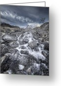 National Digital Art Greeting Cards - Towards the Cairn Greeting Card by Andy Astbury