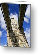 Gothic Arch Greeting Cards - Tower bridge in London Greeting Card by Elena Elisseeva