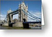 Royalty Greeting Cards - Tower Bridge London Greeting Card by Heidi Hermes