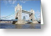 Sir Greeting Cards - Tower Bridge Greeting Card by Richard Newstead