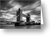 Bridge Greeting Cards - Tower Bridge, River Thames, London, England, Uk Greeting Card by Jason Friend Photography Ltd