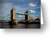 Steven Gray Greeting Cards - Tower Bridge Greeting Card by Steven Gray