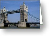 National Treasure Greeting Cards - Tower Bridge Greeting Card by Robert  Torkomian