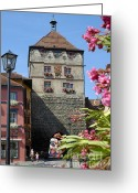 Tor Greeting Cards - Tower in old town Rottweil Germany Greeting Card by Matthias Hauser