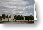 Tower Of London Greeting Cards - Tower of London Greeting Card by Dawn OConnor
