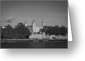 Tower Of London Greeting Cards - Tower of London riverside Greeting Card by Gary Eason