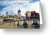 British Royalty Greeting Cards - Tower of London Two Greeting Card by Jeff Stein