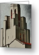 Ghosts Greeting Cards - Tower of Memories Greeting Card by Kevin Munro