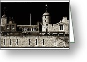 Tower Of London Greeting Cards - Tower of Terror Greeting Card by John Rizzuto