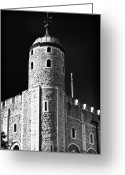 Tower Of London Greeting Cards - Tower Windows Greeting Card by John Rizzuto