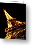 Eiffel Tower Greeting Cards - Towering Greeting Card by Heather Applegate