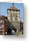Tor Greeting Cards - Town gate Schwarzes Tor in Rottweil Germany Greeting Card by Matthias Hauser