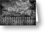 Vintage Photographs Greeting Cards - Town Two To Too Greeting Card by Jerry Cordeiro