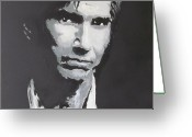 Singer Drawings Greeting Cards - Townes Van Zandt  Greeting Card by Eric Dee