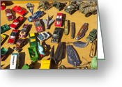 Room Jewelry Greeting Cards - Toy cars Greeting Card by Michael Clarke JP