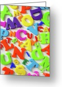Things Greeting Cards - Toy Letters Greeting Card by Carlos Caetano