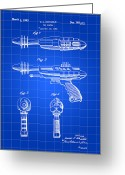 Laser Beam Greeting Cards - Toy Ray Gun Patent Greeting Card by Stephen Younts