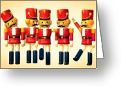Holiday Greeting Cards - Toy Soldiers Nutcracker Greeting Card by Bob Orsillo