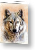 Portrait Greeting Cards - Trace Two Greeting Card by Sandi Baker