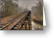 Train Track Greeting Cards - Track to some where Greeting Card by Peter Schumacher