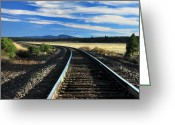 Lassen Greeting Cards - Tracks At Crater Lake Greeting Card by James Eddy