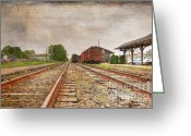 Abandoned Train Greeting Cards - Tracks by the Station Greeting Card by Paul Ward