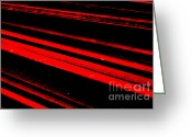 Rail Roads Greeting Cards - Tracks in Abstract Greeting Card by Wingsdomain Art and Photography