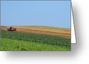 Clear Photo Greeting Cards - Tractor On Field Greeting Card by Photo by Wei-Ching Lee