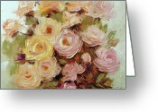 Roze Greeting Cards - Tradafiri Coral Dawn Greeting Card by Elena Bissinger