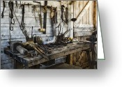 Shed Photo Greeting Cards - Trade Tools Greeting Card by Peter Chilelli