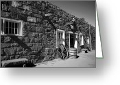 Historic Site Greeting Cards - Trading Post Greeting Card by Timothy Johnson