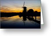 Dusk Greeting Cards - Traditional Dutch Greeting Card by Chad Dutson