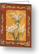 Lilies Greeting Cards - Traditional Lily 2 Greeting Card by Debbie DeWitt