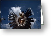 Headgear Greeting Cards - Traditional Native American Dancers Greeting Card by Lynn Johnson
