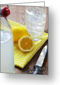 Summertime Drink Greeting Cards - Traditional still lemonade Greeting Card by Richard Thomas